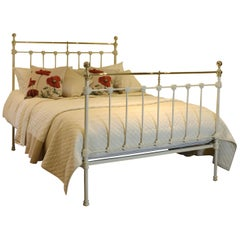 Victorian Brass and Iron Bed in Cream MK161