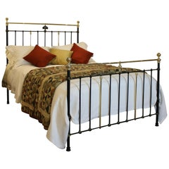 Victorian Brass and Iron Bed with Gold Lining MK163