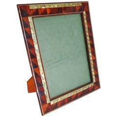 Art Deco Style Picture Frame in Lucite Tortoise, Italy