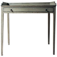 Late Regency Period Painted Pine Side Table/Washstand, circa 1825-1830