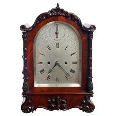 William IV Mahogany Bracket Clock by Daniel Ross, Exeter