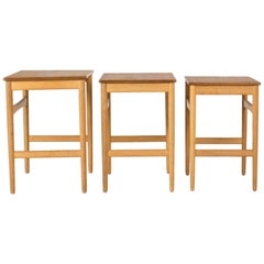 Set of Midcentury Nesting Tables by Hans J. Wegner