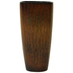 Brown Ceramic Vase 1950s by Gunnar Nylund, Rörstrand, Sweden