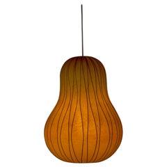 Midcentury Resin Cocoon Lamp by Hans Bergström