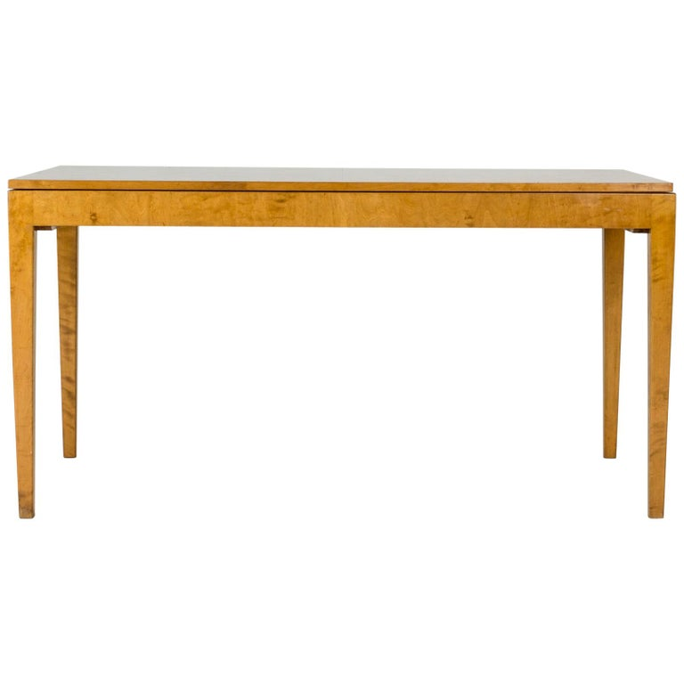 1930s Beech Dining Table by Axel Larsson For Sale