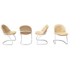 Gastone Rinaldi for Rima Set of 4 Cream Chairs
