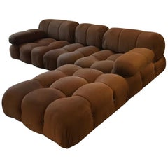 Mario Bellini B&B Italia, Camaleonda Sofa Set in Original Brown Upholstery, 1970