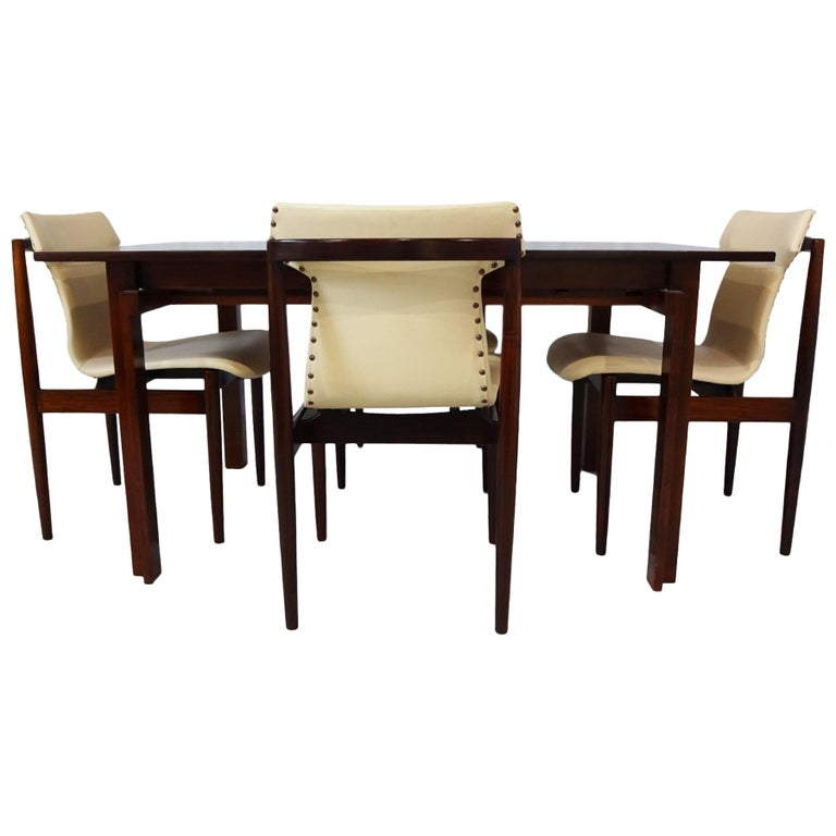 Dining set - Danish Midcentury teak table & chairs by Inger Klingenberg For Sale