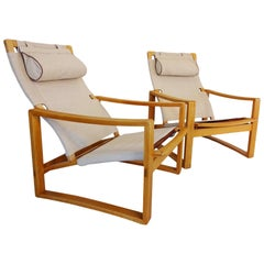 Lounge Chairs -  Safari style Danish Midcentury chairs by Børge Jensen & Sønner