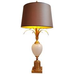 Ostrich Opaline Glass Table Lamp, Boulanger