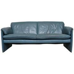 Leolux Blue Leather 'Bora Bora' Sofa