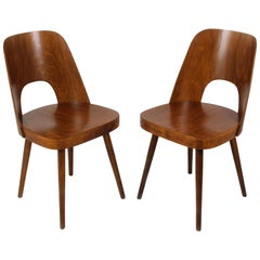 No. 515 Wooden Chairs by Oswald Haerdtl for TON, 1950s, Set of Two