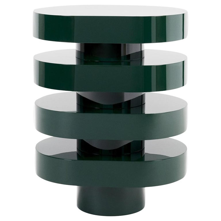 Aglaé Tiered Side Table in Glossy Lacquer, by Joris Poggioli For Sale