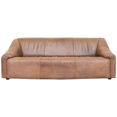 Leolux Light Buffalo Leather 3-Seat Sofa