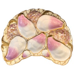 Antique Continental Oyster Plate Made for W. Graef Co., New York, circa 1900