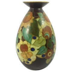 Boch Frères Keramis, Art Deco Vase, Belgium, circa 1925