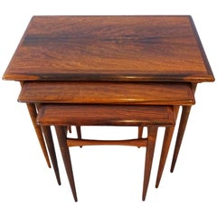 Danish nesting Coffee Table Set - Kai Kristiansen Mid Century Rosewood