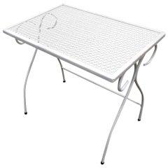 Woodard Mesh Steel Outdoor/Patio Side Table, circa 1950