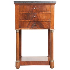 French Early 20th Century Empire Style Mahogany Bedside Table