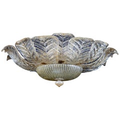 Large Ceiling Leaves Barovier & Toso Flush Mount Murano, 1960