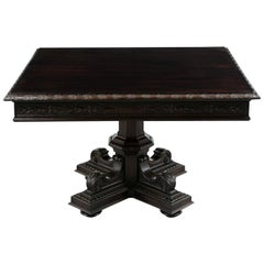 French Renaissance Style Square Dining or Center Table