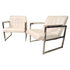 Chrome Frame Midcentury Chairs