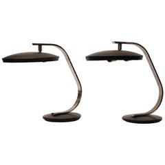 Pair of Fase Mid-Century Modern Adjustable Desk Lamps, Spain