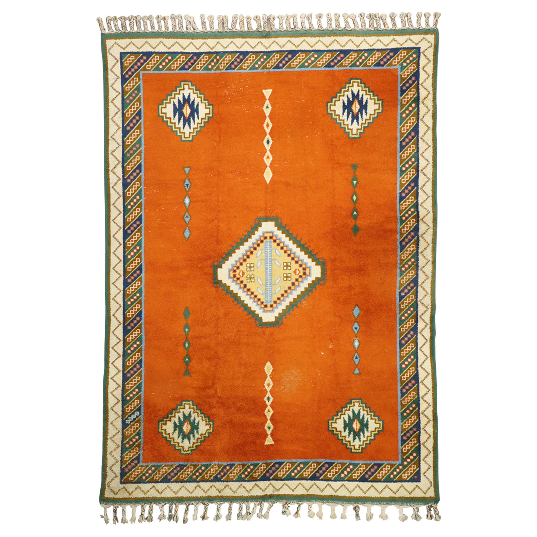 Vintage Rabat Moroccan Area Rug, Oversize Rug, Palace Size Carpet