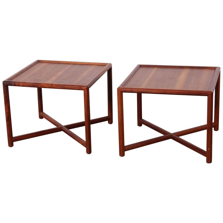 Pair of Tables by Edward Wormley for Dunbar For Sale