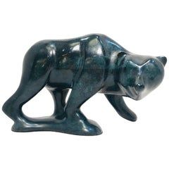 """Original Robert Deurloo Limited Edition Bronze Bear """"Old Silvertip"""" Sculpture"""