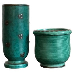 Wilhelm Kage Gustavsberg Small Ceramic Vases, Sweden