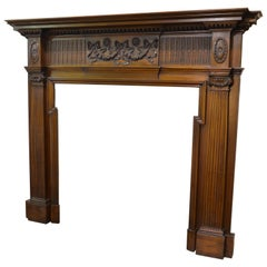 Mid-19th Century Mahogany Georgian Mantle