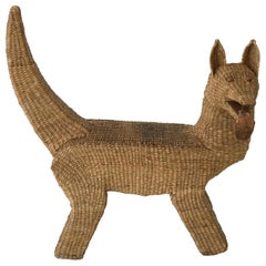 "Mario Lopez Torres ""Coyote"" Bench in Woven Grass"