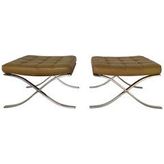 """Barcelona"" Stools by Mies van der Rohde for Knoll"