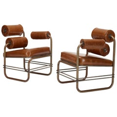 Nautilus Leather One-Armed Lounge Chair by Jordan Mozer for Sabrina, 1985-2015