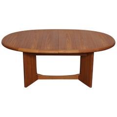 Large Danish Teak Oval Dining Table