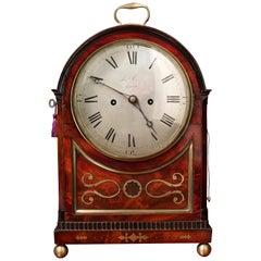 Regency Mahogany Striking Bracket Clock