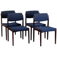 Danish Midcentury Rosewood Dining Chairs by H.W. Klein for Bramin, Set of 4
