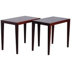 Danish Rosewood Side Tables by Severin Hansen for Haslev Møbelsnedkeri, 1960s
