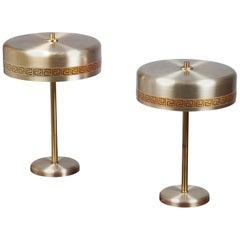 Midcentury Danish Table Lamps from Vitrika, Set of 2