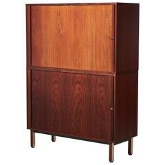 Vintage Danish Rosewood Office Cabinet by Marius Byrialsen