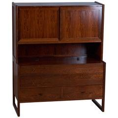 Danish Rosewood Bar Cabinet, 1960s, Midcentury