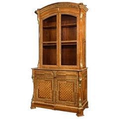 Outstanding Tulipwood Bureau Bookcase