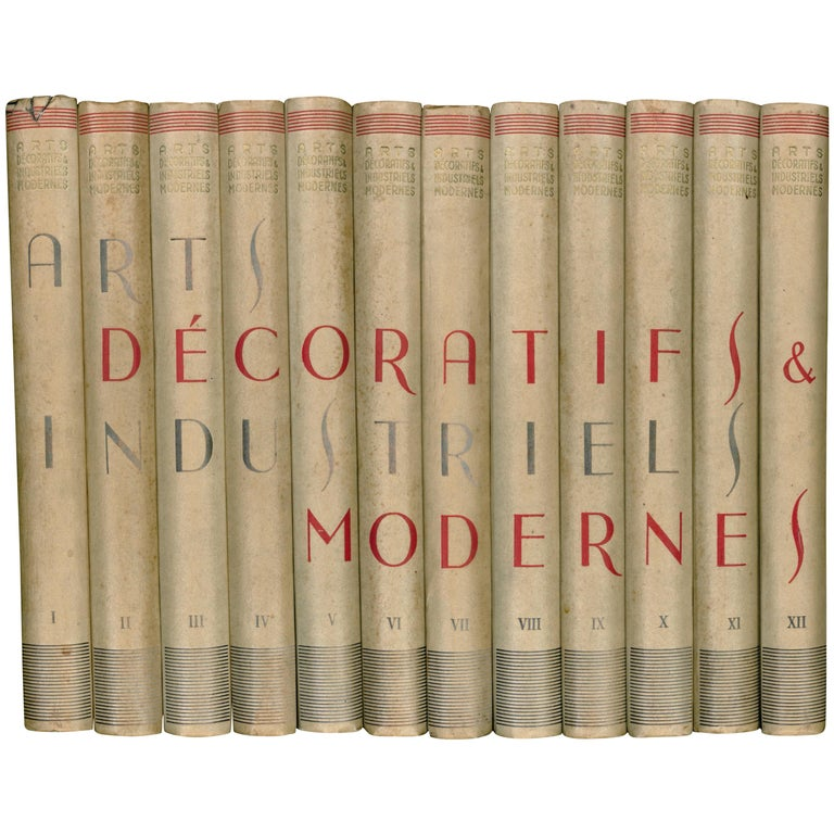 'Arts Decoratifs & Industriels Modernes' Set of 12 Books For Sale