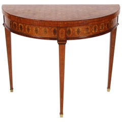 Demilune Parquetry Card Table