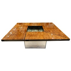 Stunning 1970s French Coffee Table, Paul Michel