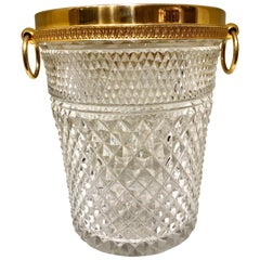 Crystal and Gold-Plated Ice Bucket