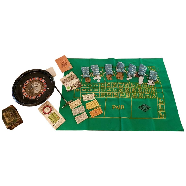 1950s Vintage French Roulette Game For Sale
