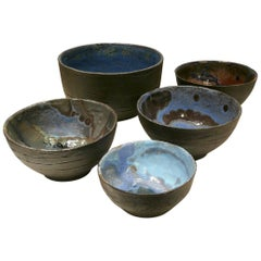 Limited Edition French Vintage Ceramic Bowls