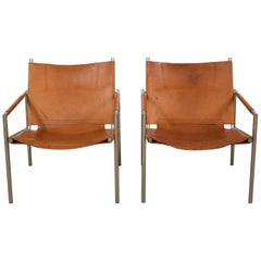Pair of Lounge Chairs by Martin Visser, Model 'SZ02' for 't Spectrum Bergeijk